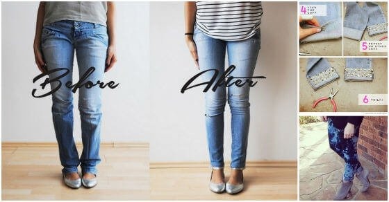 Alte Jeans verschönern - einfache Tricks