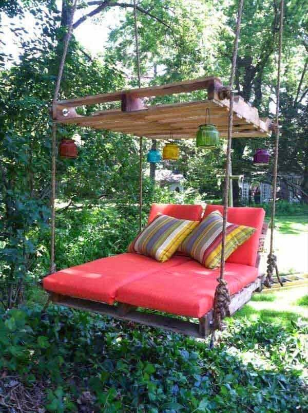 Hängematte aus Holzpaletten bauen - Relax-Zone im Garten gestalten