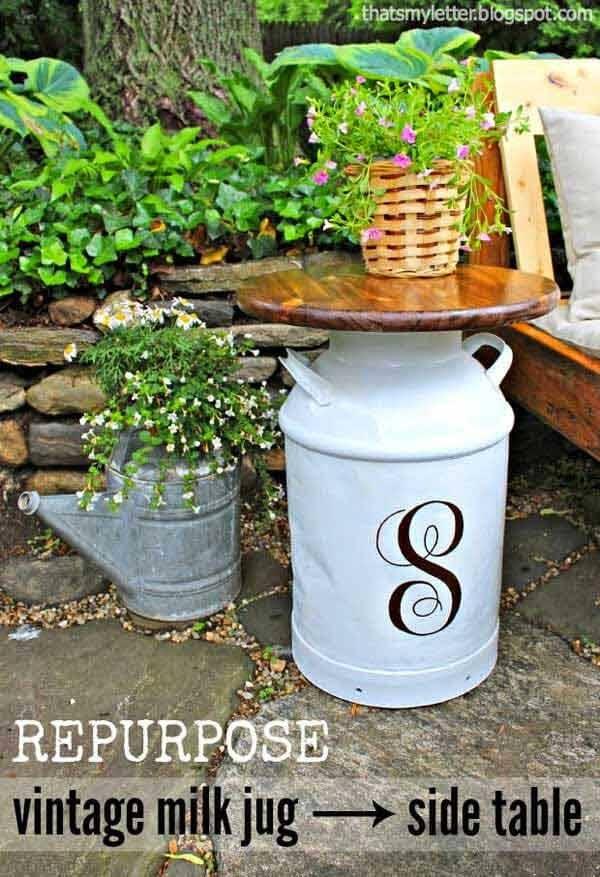 Rustikale Milchkanne Deko-Ideen - kreativ den Garten gestalten