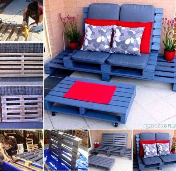 DIY Gartenmöbel - Sitzecke aus Europaletten bauen