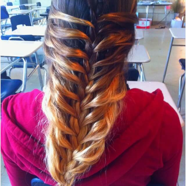 simple Ideen - Flechtfrisuren - ombre Haarstyle