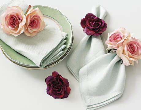 Serviettenringe mit Rosen selber machen