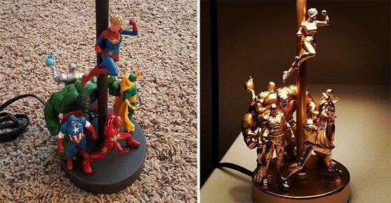 Lampe selber bauen, wie die Profis – solch eine Actionfiguren Lampe möchten wir alle haben