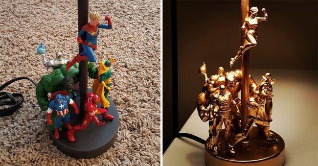 Actionfiguren Lampe selber machen - Bastelideen mit Lampen