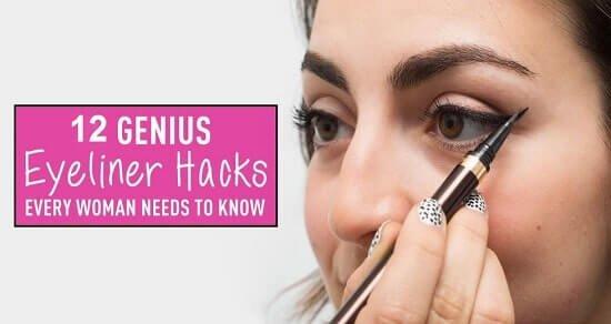 12 Eyeliner Hacks, die alle Frauen unbedingt kennen sollten