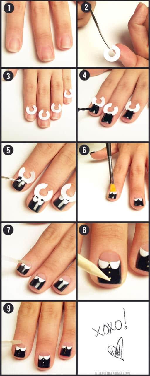 Nailart DIY Ideen - Peter Pan Kragen Nägel selber machen