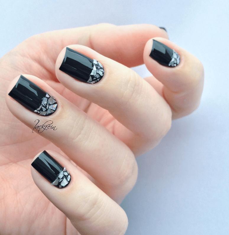 Glänzende-spiegelnde Maniküre selber machen
