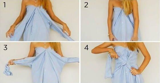 So kannst du ein T-Shirt in ein Kleid verwandeln und andere Kleider Hacks