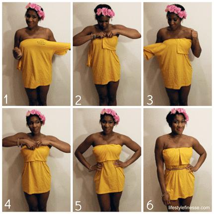 DIY Kleid aus einem T-shirt selber machen,-Attraktives Sommerkleid