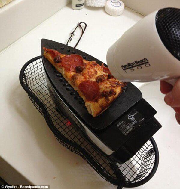DIY Idee StudentenWG-Pizza ohne Mikrowelle erhitzen