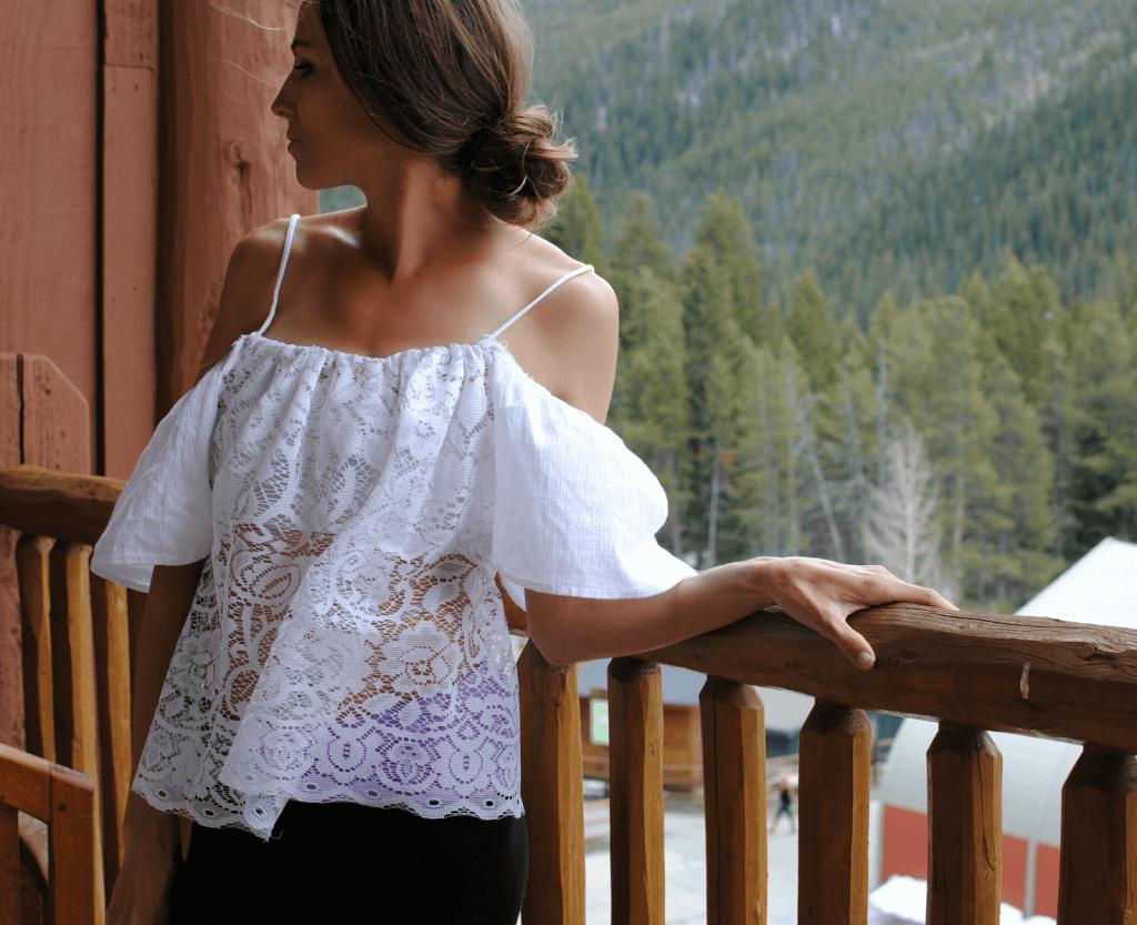 Ethnische Bluse nähen - selbst gemachte SPitzen-Bluse