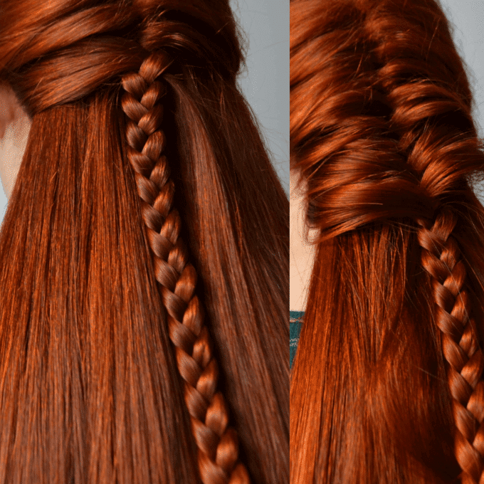 schöne Flechtfrisuren- Haarstyle