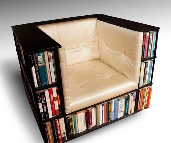DIY Möbel Bastelideen - Bücherregal und Sitz