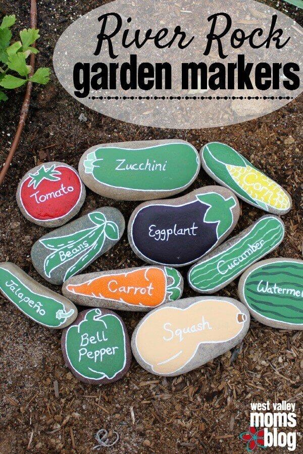 Mit Steinen Gewürze markieren - DIY Garten-Ideen
