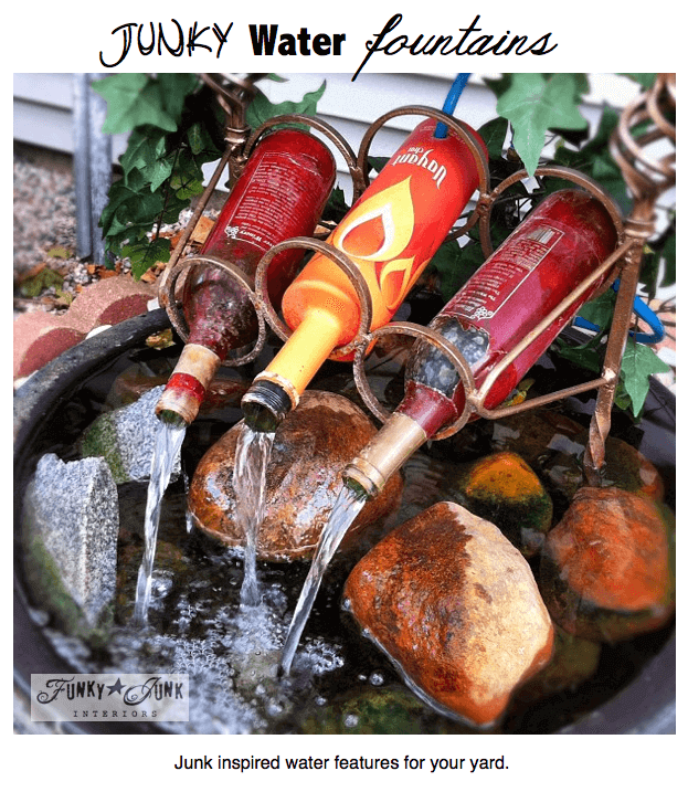 Springbrunnen aus alten Getränkeflaschen selber machen