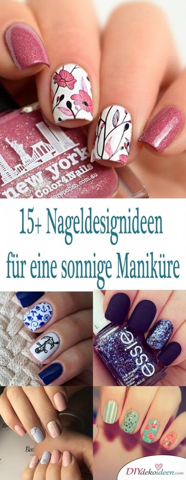 15 + 3 fantastische Nail Design Ideen für sonnige Maniküre