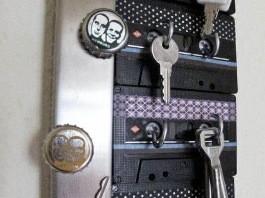 Kassetten wiederverwenden - lustige Wohndeko Ideen
