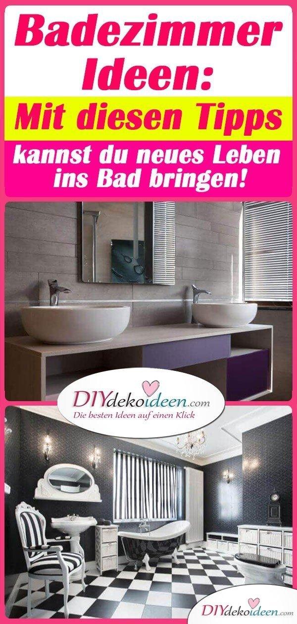 Badezimmer Ideen: Mit diesen Tipps kannst du neues Leben ins Bad bringen!
