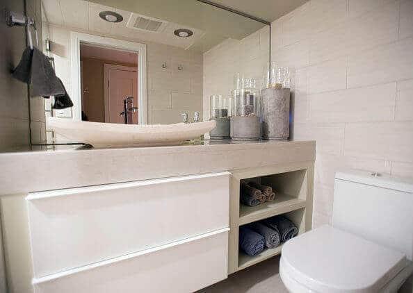 Badezimmer Ideen-natur Wohndesign-Handtücher gestalten