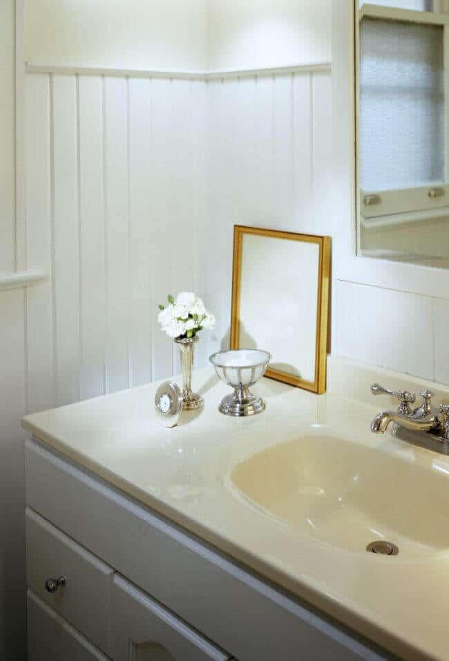 Badezimmer Ideen-Badezimmer mit Blumen dekorieren