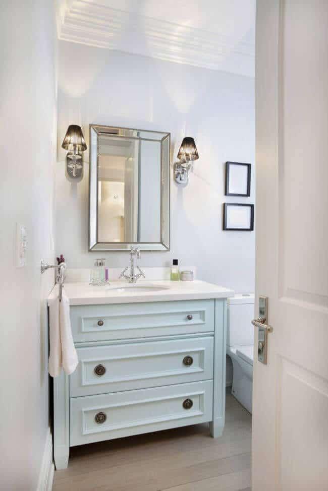 Badezimmer Ideen-extrawaganter Spiegel-Deko-Idee