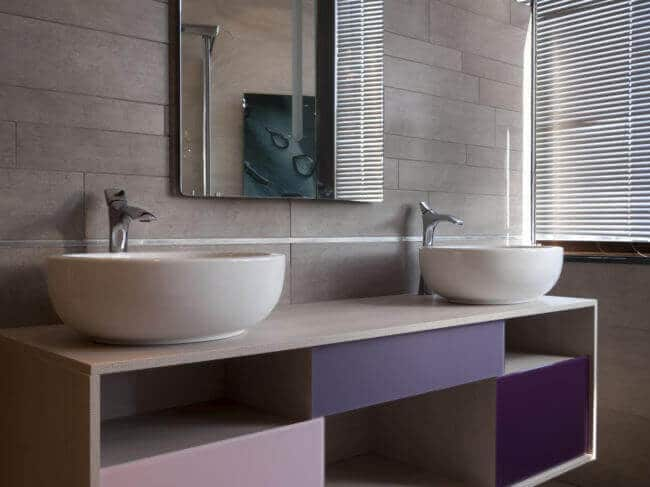Badezimmer Ideen-bunte Farben-Deko-Ideen