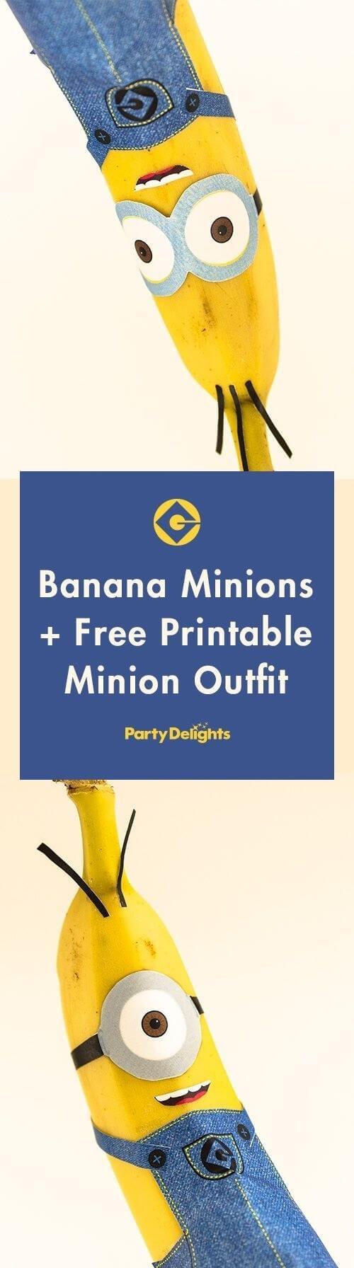 Minion aus einer Banane zaubern - lustige DIY Projekte