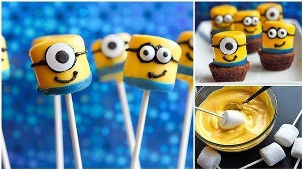 Marshmallow Lutscher selber machen - Kinder-Party-Ideen