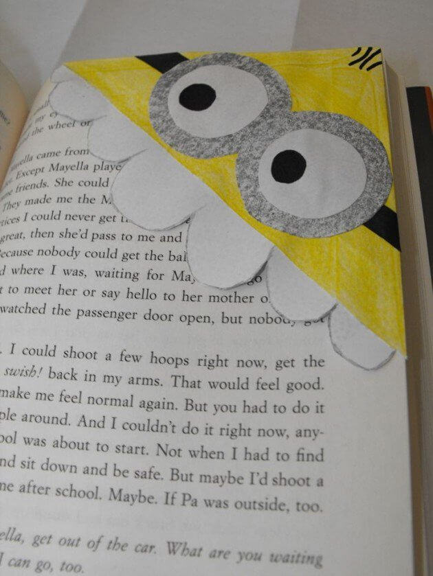 Lesezeichen selber machen - Minion Bastelideen