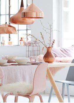 Lampen mit Kupferspray versehen - DIY Wohndeko