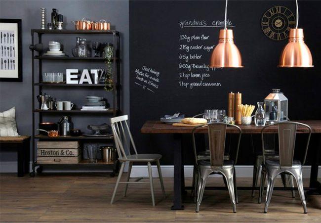 DIY Küche-Wanddeko mit Kreidenfarbe