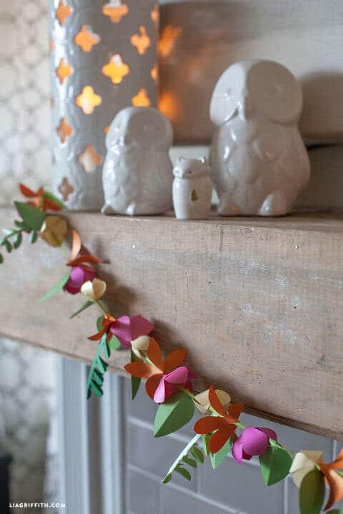 Blumengirlande Bastel-Ideen, Wohndeko zum Selbermachen