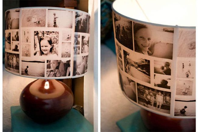 Lampenschrim mit Familienfotos gestalten - DIY Wohndeko zu Muttertag verschenken