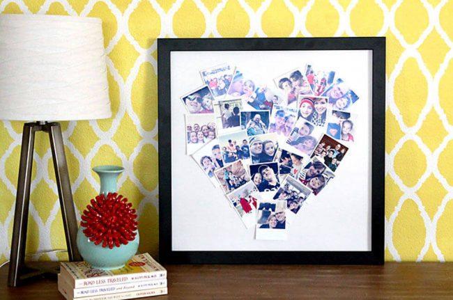 Fotos im Herzform gestalten - persönliche Geschenkideen