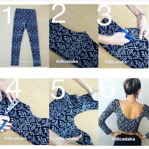 Crop-Top aus Leggings basteln-Sommerkleidung selber machen
