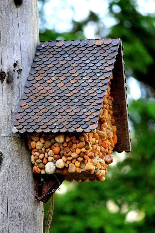 Vogelhaus selber machen - DIY Gartendeko - Münzen verwenden
