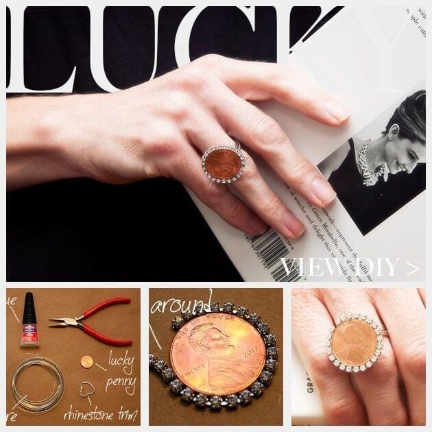 DIY Schmuck - Ring aus Münzen basteln - Geschenkidee für Freundinnen
