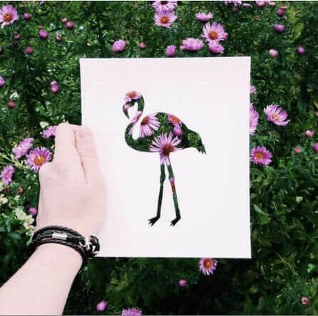 Flamingo Bild - DIY Bastelprojekte für Kunstliebhaber