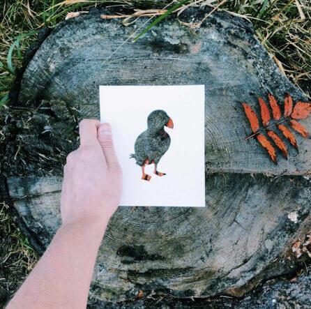 Bild mit Holzmuster machen