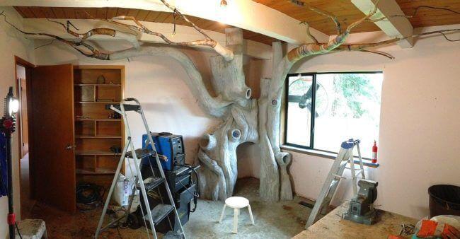 Baum selber basteln - Zimmerdeko für Kinder