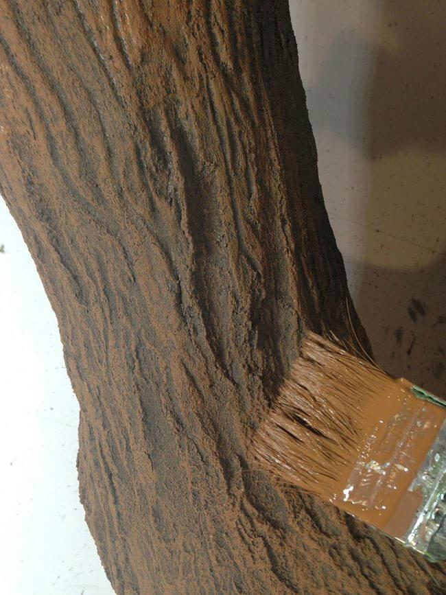 Baum streichen - DIY Dekobaum
