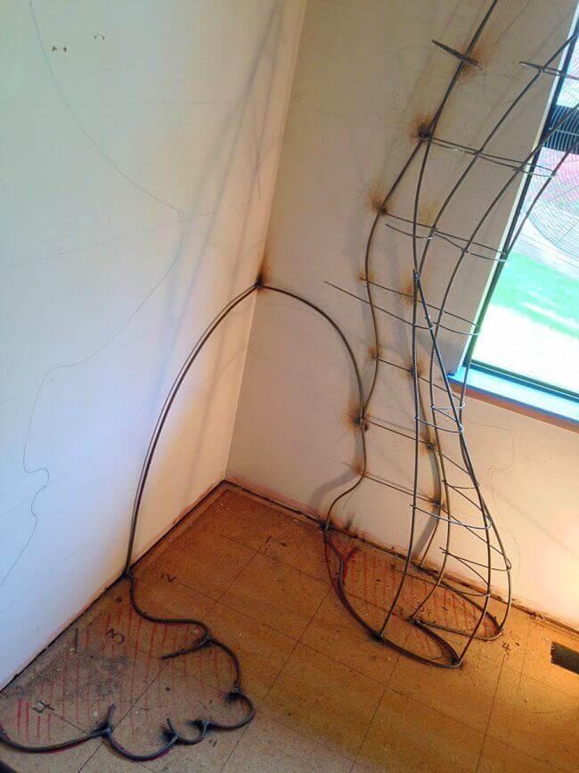 Skelett aus Stahl bauen - Märchenbaum für das Kinderzimmer selber machen