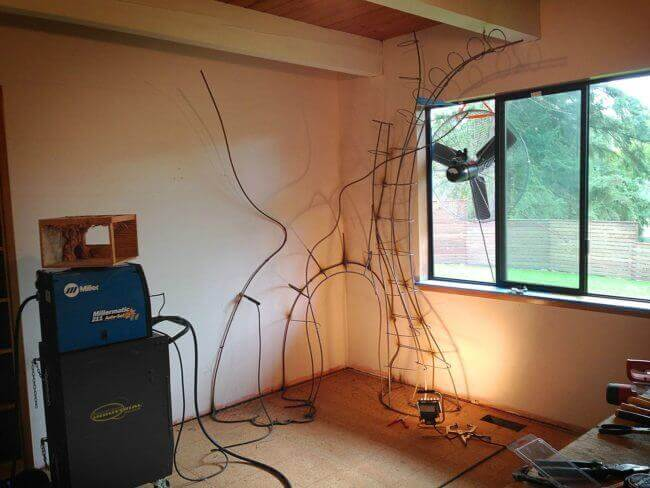 Entwurf des Märchenbaumes - DIY Ideen für das Kinderzimmer