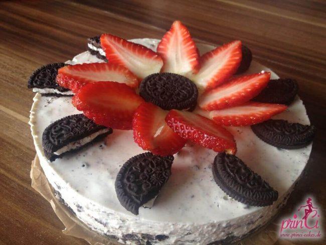 Last Minute Kuchenrezept - Oreo Kekse mit Erdbeeren