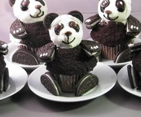 Leckere Törtchen aus Oreo Keksen- Panda Kuchen zubereiten