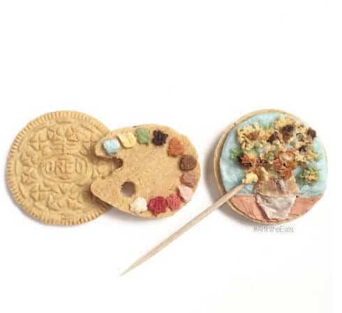 Keks-Deko Ideen-wunderschöne Blumenvase auf den Keks malen