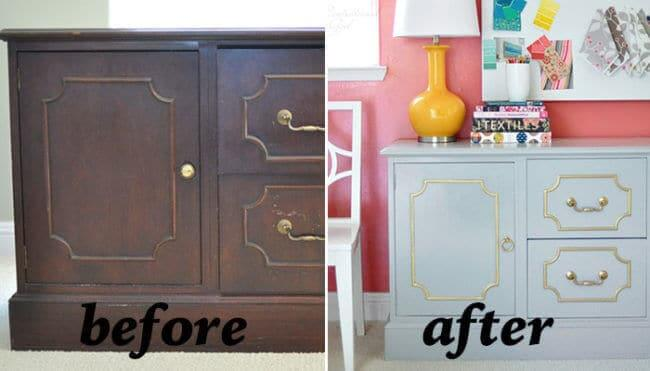 Kommode neu lackieren - Möbel Renovierung-Ideen