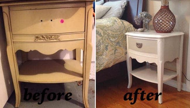 Nachttisch erneuern - alte Möbel wiederverwenden