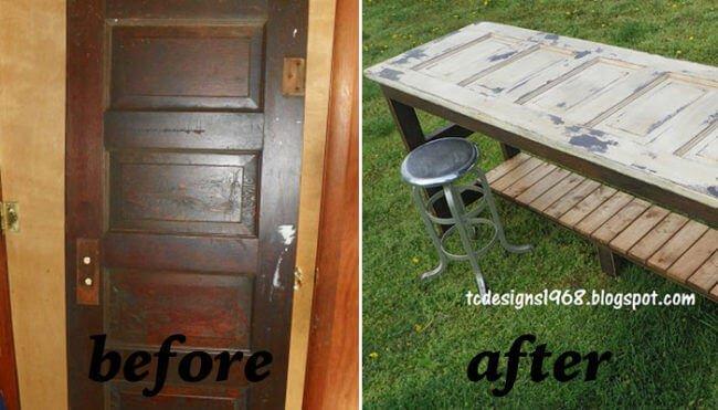 Alte Tür wiederverwenden - Gartentisch selber bauen - DIY Gartenmöbel