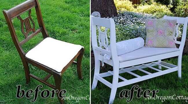 Bank aus zwei Stühlen bauen - DIY Gartenbank
